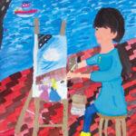 「画家」 杉本 杏樹(黒東小3年)  ●第7回 国際ソロプチミスト「夢を生きる」アートコンテスト・奨励賞