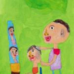 「びようしのママ」 泉 颯人(道下保年中)  ●第7回 国際ソロプチミスト「夢を生きる」アートコンテスト・奨励賞