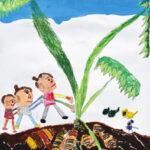 「サトイモほり」 泉 はやと(道下保年中)  ●第59回 全日本学生美術展・特選