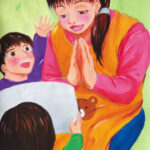 「保育士」 村崎 可奈子(新川みどり野高2年)  ●第7回 国際ソロプチミスト「夢を生きる」アートコンテスト・優秀賞