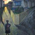 「分かれ道」 鍋島 実李(魚津高2年)  ●第40回富山県青少年美術展・入選(絵画部門)