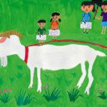 「ヤギ」 山林 音巴(道下小3年)  ●第59回 全日本学生美術展・佳作