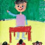 「学校の先生」 山根 詩織(入善小1年)  ●第7回 国際ソロプチミスト「夢を生きる」アートコンテスト・奨励賞