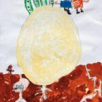 「おおきなカブ」 広瀬 たいき(道下保年中)  ●第59回 全日本学生美術展・特選