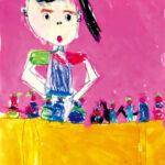 「ケーキ屋さん」 長谷 唯衣(大布施保年長)  ●第7回 国際ソロプチミスト「夢を生きる」アートコンテスト・優秀賞