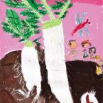 「大きなダイコン」 広瀬 優希(道下小2年)  ●第59回 全日本学生美術展・佳作