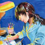 「アニメーター」 島田 幸苗(魚津西部中2年)  ●第7回 国際ソロプチミスト「夢を生きる」アートコンテスト・優秀賞